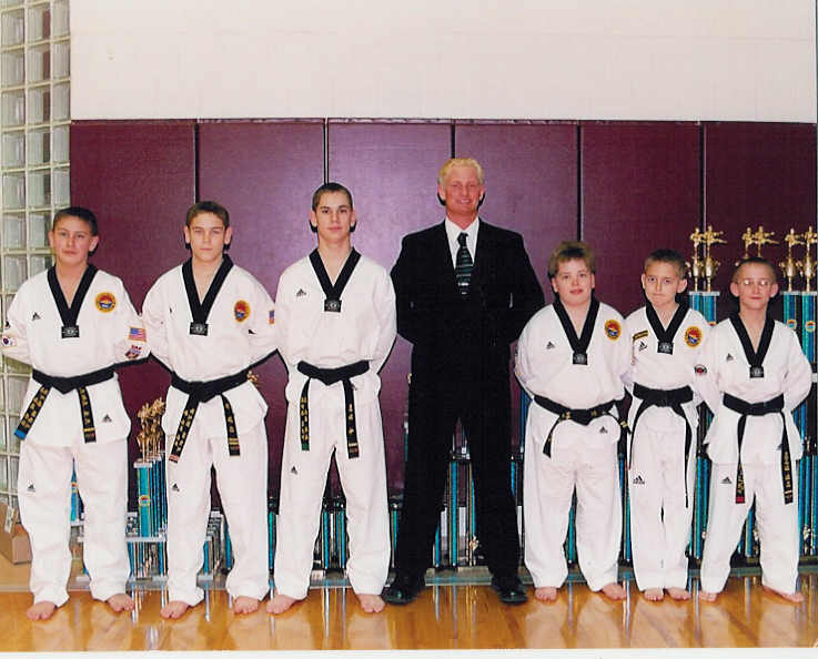 September 13, 2001 Master Scott Manning and His Black Belt Students